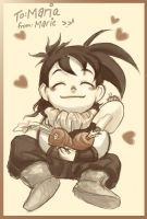 Gohan and carrots - gift by cheenot