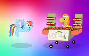 Rainbow Dash and Skittles by Agrol