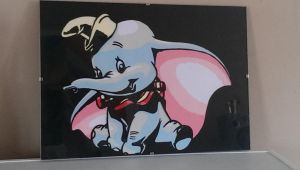 Dumbo paper cut art by swiftflik