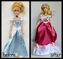 repainted ooak singing pink dress cinderella doll. by verirrtesIrrlicht