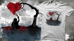 Edward in Love T-Shirt by oO-VampArt-Oo