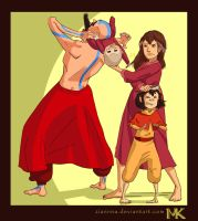 LoK: Morning Routines (Airbending fam closeup) by Ziannna