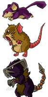 Pokemon Rats WWS by the19thGinny