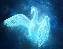 Swan patronus by Searii