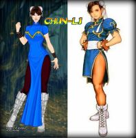 Chun-Li design by LadyRaw90