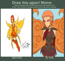 Before And After Spotlight by StarKittyTheArtist