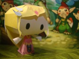 Toon Zelda Papercraft by AnimeGang