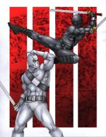 Snake Eyes Vs. Stormshadow by Romey1973