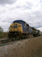 CSX C40-8W 7755 by LDLAWRENCE