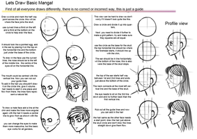 Basic manga head tutorial 2 update by hoshi-kou