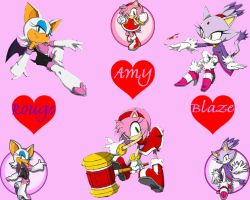 Girl Power Amy, Rouge, Blaze by CristianHarold0000