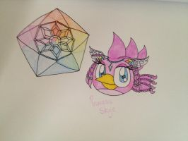 Angry Birds OCs: Princess Skye the Time Bird by RussellMimeLover2009