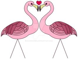 Flamingo Love by Raccoonish