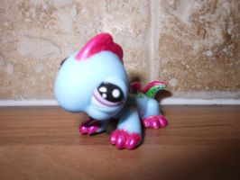 Bright colored lizard lps custom by megatiger42