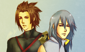 Terra + Riku by rivertem
