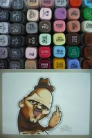 Uncle Puppet Copic by thekillergerbil