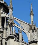 Flying buttresses of the Notre Dame by EUtouring