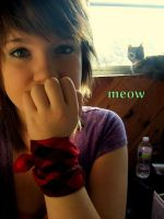 I take pictures with my kitty by KellyBearr