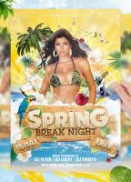 Tropical Spring Summer Beach Night Flyer Party by jellygraphics