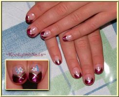 Simple French Tips by KookylmhNails