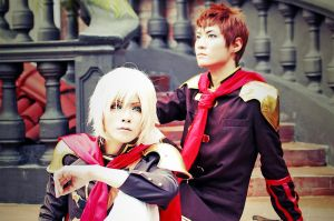 Final Fantasy Type 0 - Ace and Eight by naokunn