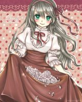 AT : The white rose princess by AmiMochi