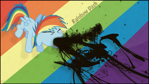 [Wallpaper]Rainbow Dash_No idea by aruigus808