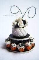 Verusca's Shabby Chic Wedding Cake Replica by margemagtoto