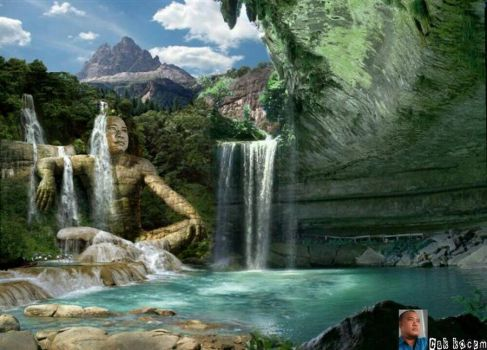 awesome waterfall by Cakkocem