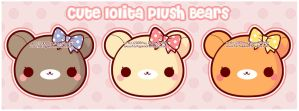 Cute Lolita Plush Bears by MoogleGurl