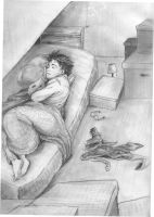 'Asleep...but not for long' Harry's cupboard by Juja-Anandini