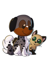 SS: Fluffy and Speckles by LeniProduction