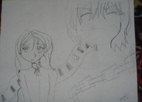 vampire knight ichijo and OC by NoodlesTheName