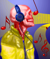 Skull live Music 2 by TERRIBLEart
