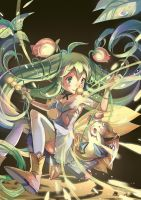 [Puzzle and Dragons]Mystical Forest Pixie, Alraune by shadowsinking