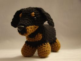 Dachshund Crochet by ADayToCrochet