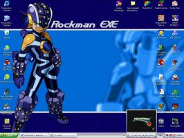 My Rockman Desktop by Bluecat16
