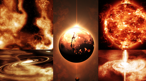 'Warm' space art image compilation! by Archange1Michael
