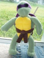 Donatello Plush by chronicdoodler