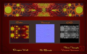 Fire Temple - Dragon Wall Mural by DeaconStone