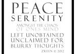 unobtainable peace.. by Zreen