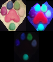 Glow in the dark pawpads by Monoyasha
