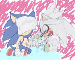 Doodles Sonic and Silver by Sweetness-Lover