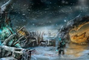 Dead Space 3 Concept. by BrandonStricker