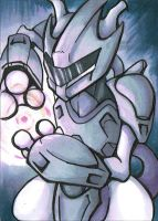 ACEO number 14 Mewtwo by ChershireHatter
