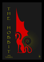 hobbit tolkien bookcover dragon ring minimalism by sibelian