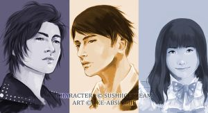 Portrait Commission: Jae, Toshi, Katelyn by fee-absinthe