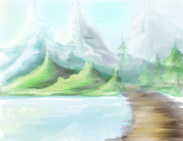 Hills And Mountains by xDarkFlower
