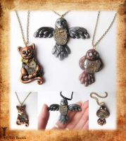 Clockwork Critters by TrollGirl