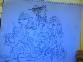 TF2, MLP:FIM- The Team (re-uploaded for outline) by Sniperisawesome